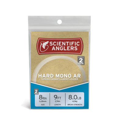 Hard Mono AR Leaders 9ft (2-pack)